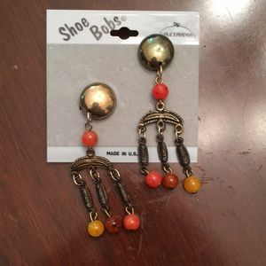 New vintage clip on earrings or shoe bobs